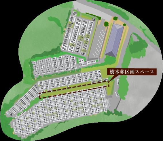 霊園区画図
